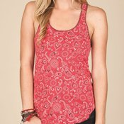 Ladies' Printed Meegs Eco-Jersey Racer Tank