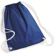 Nylon Drawstring Backpack with White Drawcords