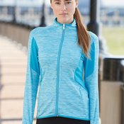 Ladies' Space Dyed Full-Zip Jacket